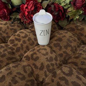 "Rae Dunn Ceramic Mug with ""Zen"" phrase"